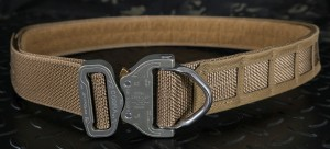 Bayonet 45mm ASSAULT belt rigid double layer with molle cels COYOTE BROWN buckle Cobra ANSI D-RING 18kN