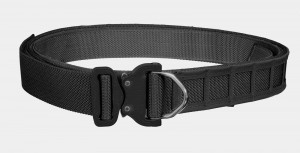 Bayonet 45mm ASSAULT belt rigid double layer with molle cels BLACK buckle Cobra ANSI D-RING 18kN